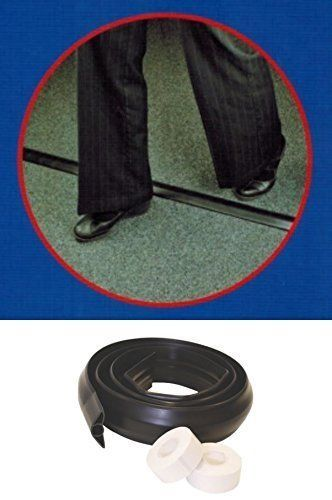 TOWER Rubber Floor Cover Cable Protector Trunking Wire Concealer Black 1.8  Meter